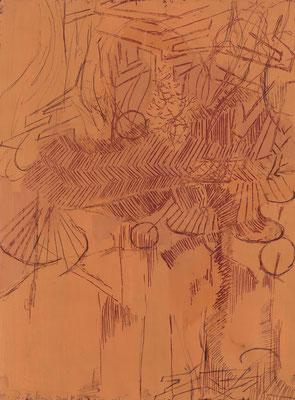 Idyll, 2010, Gouache auf Papier, 40 x 30 cm