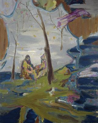 Die Philosophen-4, 2006, Öl auf Leinwand, 200 x 160 cm