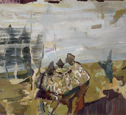 Die Philosophen-1, 2006, Öl auf Leinwand, 165 x 180 cm