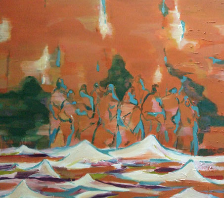 Transit-7, 2013, Öl auf Leinwand, 140 x 150 cm