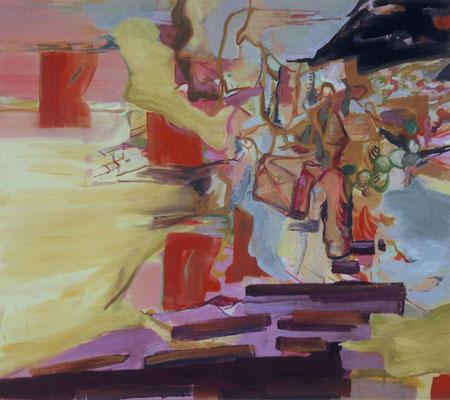 Der Bote-1, 2003, Öl auf Leinwand, 160 x 180 cm
