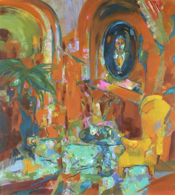 Salon Proust, 2017, Öl auf Leinwand, 180 x 160 cm