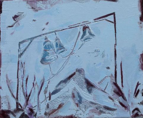 O.T., 2017, Öl auf Leinwand, 50 x 60 cm