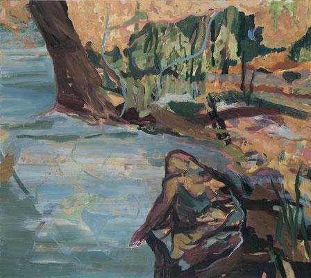 Ufer, 2005, Öl auf Leinwand, 160 x 180 cm