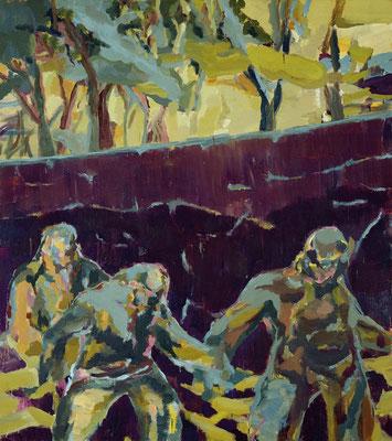 Flucht, 2007, Öl auf Leinwand, 180 x 165 cm
