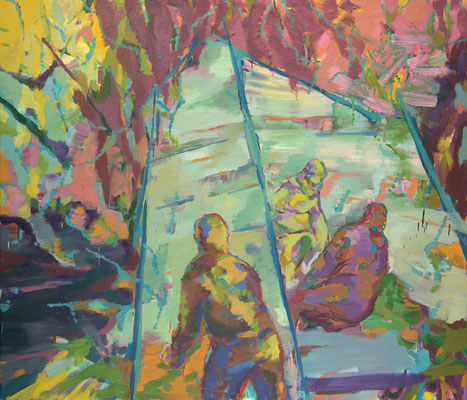 Camp, 2009, Öl auf Leinwand, 170 x 200 cm