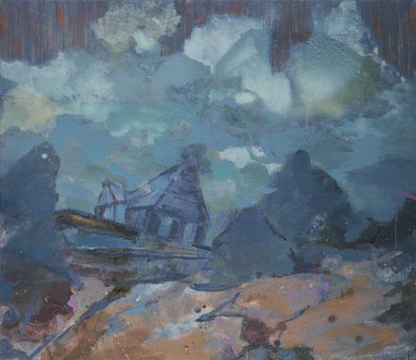Fernab-2, 2008, Öl auf Leinwand, 130 x 150 cm