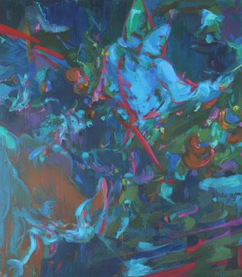 Early sound-2, Öl auf Leinwand, 230 x 200 cm