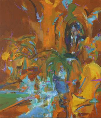Salon Proust-2, 2019, Öl auf Leinwand, 150 x 130 cm