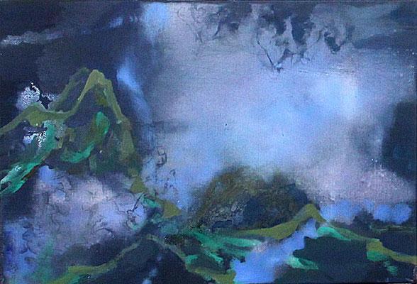 Höhe-2, 2013, Öl auf Leinwand, 40 x 60 cm