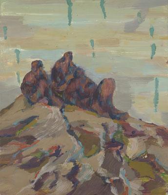 Weit oben, 2008, Öl auf Leinwand, 70 x 60 cm