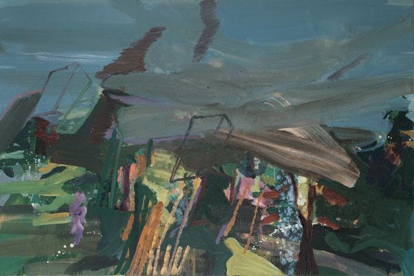 Wald-3, 2004, Öl auf Leinwand, 120 x 180 cm