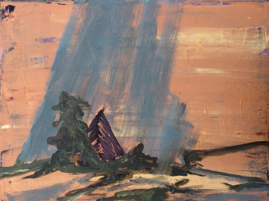 Zelt, 2012, Öl auf Leinwand, 70 x 95 cm