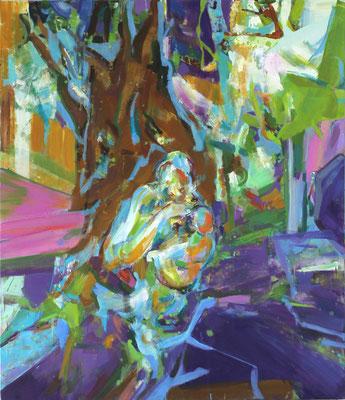 Die Heiligen-5, 2018, Öl auf Leinwand, 180 x 160 cm