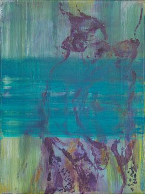 o.T., 2009, Öl auf Leinwand, 40 x 30 cm