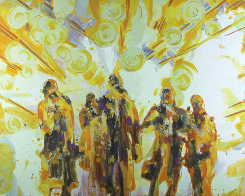Transit-X, 2017, Öl auf Leinwand, 110 x 140 cm