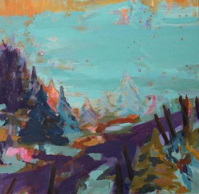 Im Gebiet-2, 2012, Öl auf Leinwand, 125 x 130 cm