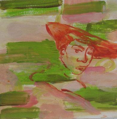 o.T. (nach Vermeer), 2003, Öl auf Leinwand, 40 x 40 cm