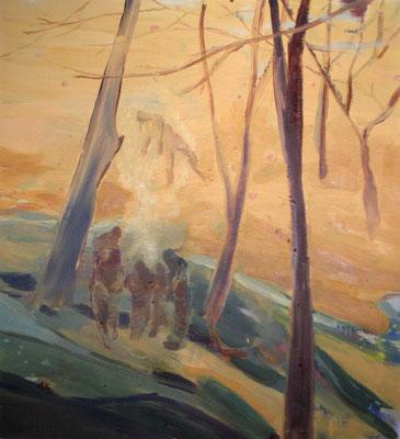 Talk, 2005, Öl auf Leinwand, 150 x 135 cm