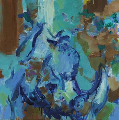 Early sound-5, Öl auf Leinwand, 50 x 50 cm