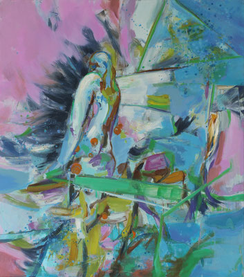 Die Heiligen-3, 2018, Öl auf Leinwand, 180 x 160 cm