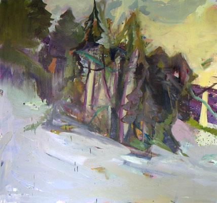 Via mala, 2005, Öl auf Leinwand, 140 x 150 cm