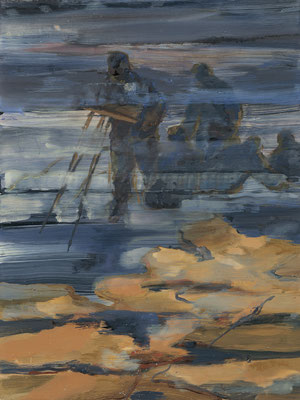 Vermessung-1, 2008, Öl auf Leinwand, 80 x 60 cm