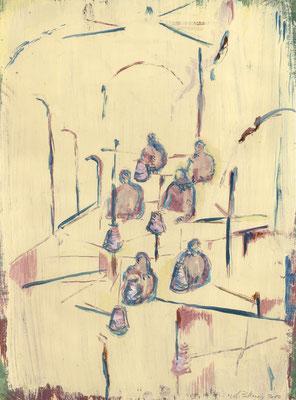 Arbeit, 2010, Gouache auf Papier, 40 x 30 cm