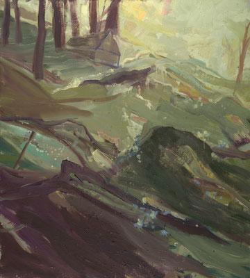 Via mala-2, 2005, Öl auf Leinwand, 150 x 135 cm
