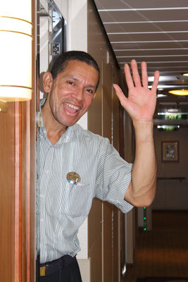 Carlos, the best cabin steward