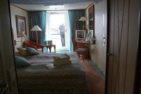 Balkon-Kabine auf Deck 7