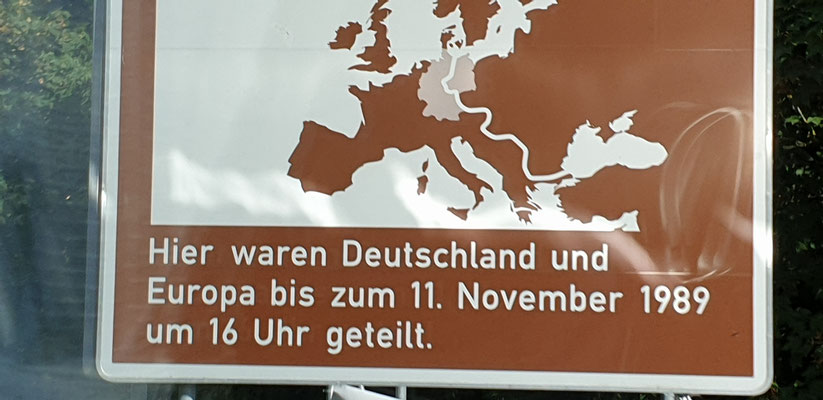 auch über die deutsch/ deutsche Grenze