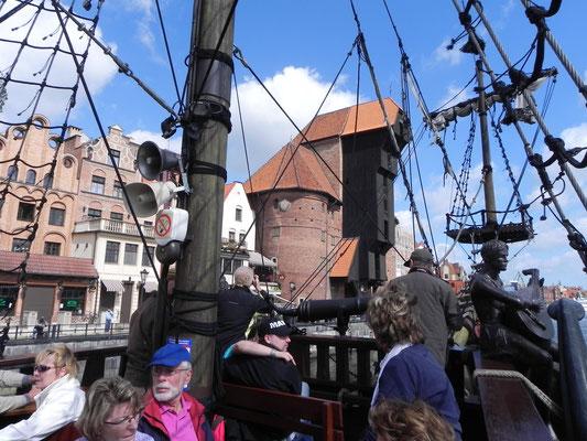 Auf einem Piratenboot zur Westernplatte