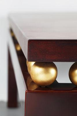 Laque et feuilles d'or. Création ALM DECO  ®Matthieu Cellard