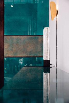 Panneaux muraux en laque. Création ALM DECO pour la biennale Révélations 2019