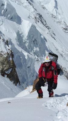 Vassiliy Pivtsov am Schneegrat