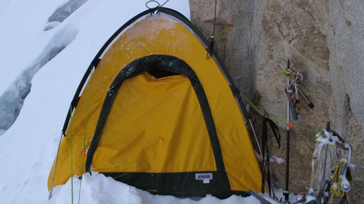 Unser Biwakplatz auf 6900 m © G. Kaltenbrunner