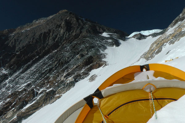 Gipfelaufbau von Lager III © R.Dujmovits