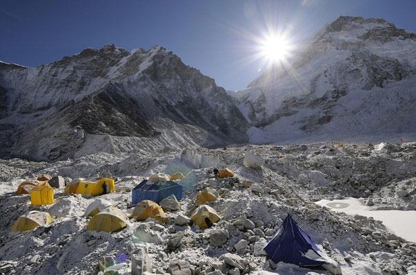 Unser Basislager in der Gletschermulde ©R.Dujmovits