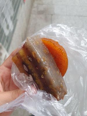 Jelly-irgendwas und frittierte Süßkartoffel 0,40€ 7/10