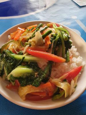 Gemüse und Reis