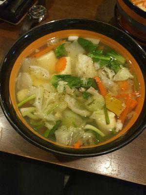 Gemüse- und Tofusuppe