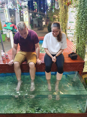 Day 5: Fischspa in Siem Reap für nur 3$ inkl Freigetränk !!
