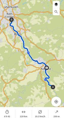 Tag 3: St.Goar nach Rodenkirchen
