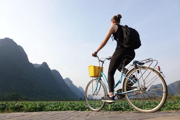 Day 25: 35km Fahrrad, 12km laufen, 1 Karst besteigen