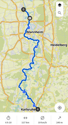 Tag 1: Karlsruhe nach Worms