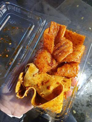 leckere zu scharfe Tofu-Streifen 0,70€ 6/10