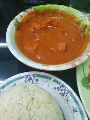 Indisches Paneer mit Reis
