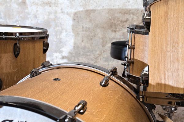 Schlagzeug Eiche, Oberfläche geölt, Detail