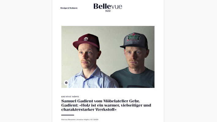 Interview NZZ Bellevue 15. Juli 2020